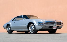 Обои мускул кар, классика, хром, передок, 1968, Muscle car, решетка радиатора