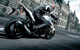 Обои moto, города, GSR 750, человек, люди, спорт, Suzuki