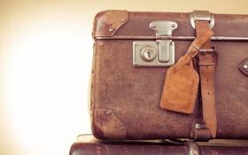 Картинка leather, luggage, leather bag
