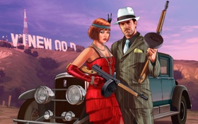 Обои Платья, Ретро, Gta Online, Перчатка, Grand Theft Auto V, Бусы, Машина