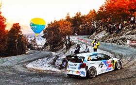 Обои Авто, Дорога, Осень, Volkswagen, Скорость, Поворот, WRC