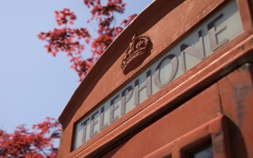 Обои стиль, ретро, Англия, телефон, будка, красная, telephone