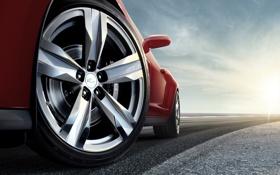 Обои дорога, авто, колесо, Chevrolet, тачки, шевроле, Camaro ZL1