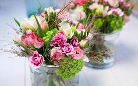 Обои цветы, букет, ваза