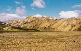 Обои небо, облака, горы, Исландия, Iceland