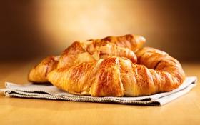 Обои baked, выпечка, breakfast, круассан, croissant