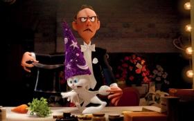 Картинка цветы, мультфильм, розы, шляпа, морковка, кролик, Pixar