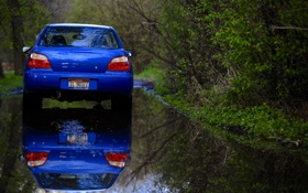 Обои Subaru, зеркало, Imperfections