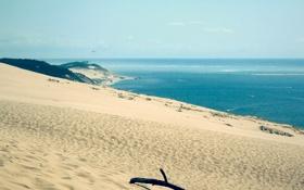 Картинка песок, море, пляж, пейзаж, океан, пейзажи, Природа