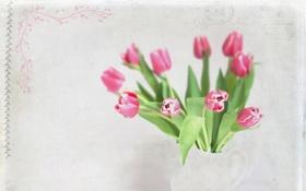 Картинка стиль, фон, тюльпаны