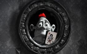 Картинка отражение, мультфильм, мужик, пластилиновый, мэри и макс, в зеркале
