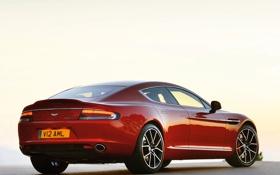 Картинка машина, огни, Aston Martin, стоп, задок, Rapide S