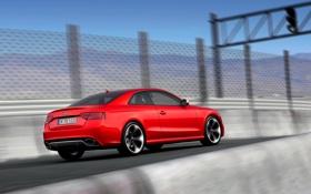 Картинка Audi, Ауди, Машина, Корпус, RS5, Купэ, В Движении