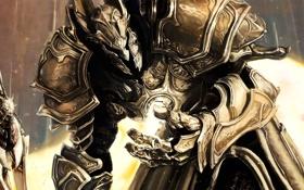 Обои меч, воин, арт, шлем, Diablo, доспех, Imperius