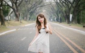 Картинка настроение, девушка, улица