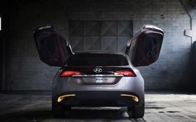 Обои Concept, двери, Hyundai, хёндай, задок, i-oniq