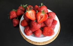 Картинка ягоды, клубника, десерт, strawberry, fresh berries