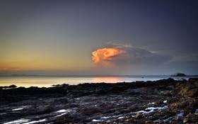 Картинка море, небо, пейзаж, природа, облако