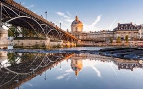 Картинка Франция, мост Искусств, река Сена, Париж