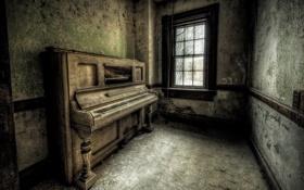 Обои музыка, пианино, интерьер, комната