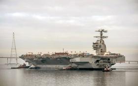 Обои море, оружие, корабль, PCU Gerald R. Ford (CVN 78)