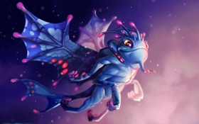 Картинка дракон, art, dota 2, Puck