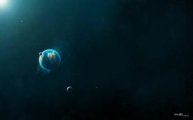 Обои космос, колония, глубокий