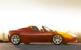 Обои машины, спорт, тачки, tesla, roadster, авто обои