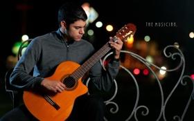 Обои музыка, гитара, гитарист