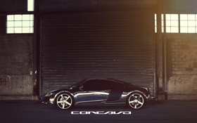 Обои Audi, бок, Chrome, CW-5, Concavo Wheels, Matte Black Machined Face