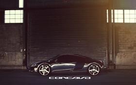 Картинка Audi, бок, Chrome, CW-5, Concavo Wheels, Matte Black Machined Face