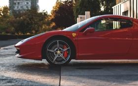Обои Ferrari, 458, Front, Spyder