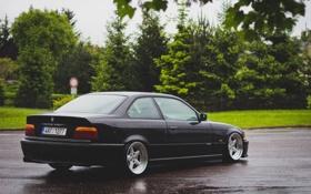 Обои бмв, BMW, черная, black, tuning, E36