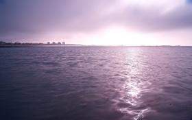 Обои море, небо, вода, свет, пейзаж, природа, отражение