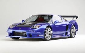 Обои blue, наклейки, компании, передняя часть, Acura, NSX, деколи