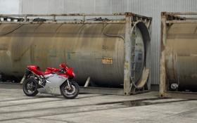 Картинка красный, мотоцикл, red, bike, цистерны, MV Agusta, мв агуста
