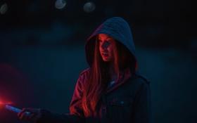 Картинка ночь, капюшон, Stacie, Jesse Herzog