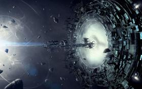 Обои space, portal, spaceship