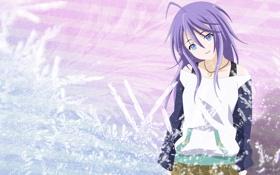 Обои улыбка, аниме, девочка