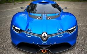 Обои машина, Concept, лого, Renault, передок, ромб, рено