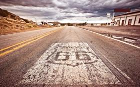 Картинка дорога, небо, облака, city, город, улица, США