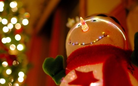 Обои snowman, Christmas Tree, decoration