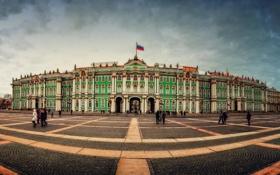 Обои площадь, Russia, питер, санкт-петербург, эрмитаж, St. Petersburg