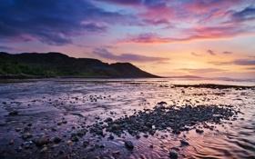 Картинка море, берег, вечер, Шотландия, Michael Breitung