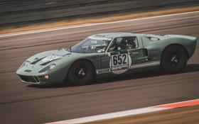 Обои ford, gt40, гонка, скорость