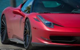 Обои машина, авто, фары, Феррари, Ferrari, wheels, диски