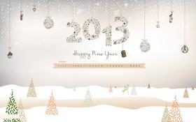 Обои снег, елка, снеговик, календарь, числа, дни, 2013