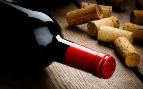 Обои вино, бутылка, пробки, корковые