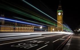 Обои город, London, Big Ben
