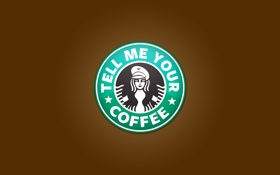 Картинка надпись, кофе, слова, Разное, coffee, Starbucks